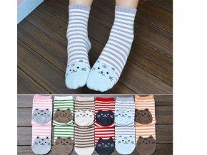 Dámské ponožky se vzorem kočky