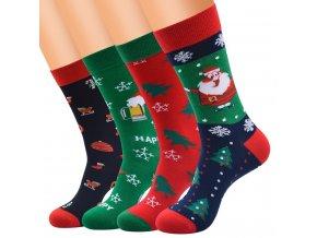 Ponožky s vánočními motivy