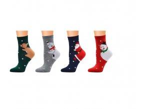 Zimní ponožky s vánočními motivy