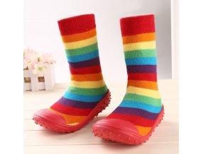 Dětské barevné protiskluzové boty
