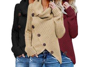 Dámský teplý pletený svetr
