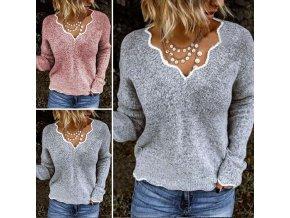 Pletený svetr STANLEY (barva šedá, Velikost S)