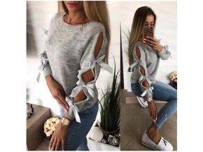 Dámský svetr s mašlemi