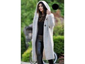 Dámský dlouhý svetr s kapucí