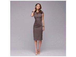 Dámské pouzdrové šaty s puntíky