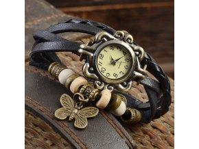 Dámské vintage hodinky s motýlkem