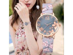 Dámské luxusní hodinky s květinovým vzorem