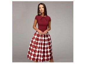 Dámské šaty se vzorovanou sukní