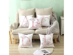 4 main pillow cover decorative pink letter printed cushion covers 4545 pillowcase sofa cushions polyester cuscini decorativi 10062