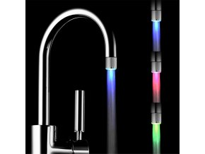 Svítící LED nástavec na vodovodní baterii