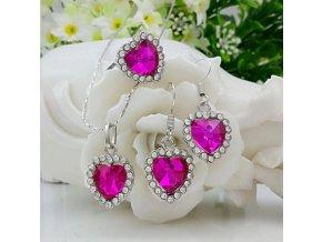 Set náušnice + náhrdelník LOVE
