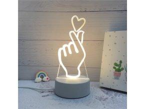 3D LED lampička