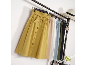 Dámská dlouhá sukně s vysokým pasem