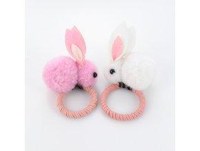 Gumička do vlasů s králíkem