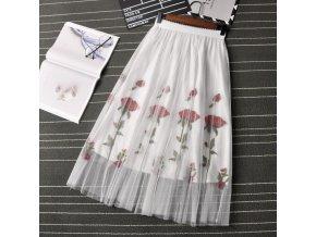 Dámská sukně s motivy růží