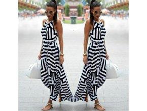 Dlouhé letní šaty na ramínka