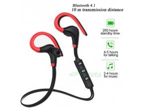 Sportovní bluetooth sluchátka s mikrofonem