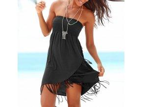 Černé letní šaty bez rukávů