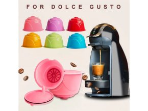 Opakovaně plnitelné barevné kapsle na kávu
