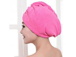 Ručníkový turban na sušení vlasů