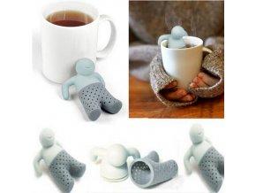Stylové sítko na čaj ve tvaru panáčka