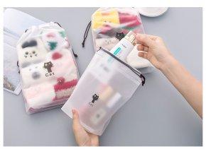 Plastová kosmetická taška s kočkou