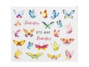 Samolepky na nehty - motýlci