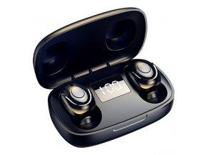 Bezdrátová bluetooth sluchátka s nabíjecí stanicí