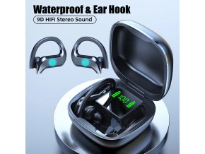 Sportovní bluetooth sluchátka za ucho