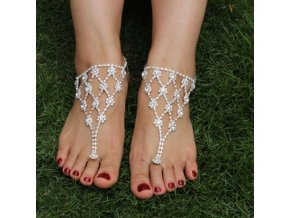 0 main 1pcs chic luxury rhinestone bride anklet foot anklet summer charm toe ring anklet tassel barefoot sandals foot jewelry for women