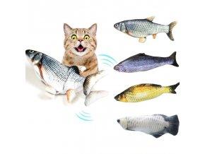 Skvělá hračka pro kočky - pohyblivá rybka