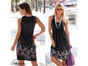 0 main summer boho beach dress women tank sleeve flower print loose short mini dress female sundress vestidos for evening party