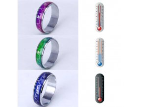 0 main emotion feeling changeable mood heart rate colorful changing magic stainless steel couple finger ring engagement christmas gift