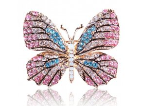5 main fashion butterfly brooches for women perfect rhinestone crystal hijab pins christmas gift