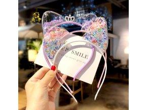0 main cute cat ears headband baby girls hairbands korean children princess kids hair accessories scrunchie christmas gift