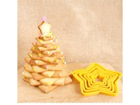 0 main 6pcsset christmas tree cookie cutter stars shape fondant cake biscuit cutter mold 3d cake decorating tools baking tool