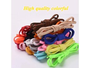 5 main 1pair no tie shoelaces round elastic shoe laces for kids and adult sneakers shoelace quick lazy laces 21 color shoestrings