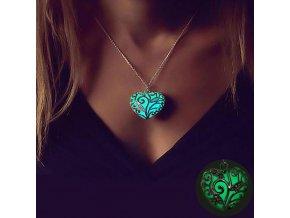 0 main famshin bohemia silver color luminous stone heart pendant necklace fashion women halloween hollow necklace jewelry gifts 2018