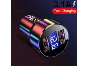 Bezdrátová nabíječka do auta 3.1A LED