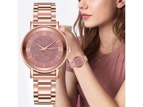 Dámské hodinky se zdobeným ciferníkem