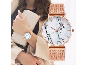 Dámské hodinky s mramorovým zdobením