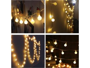 1 main 3m 6m 10m fairy garland led ball string lights waterproof for christmas tree wedding home indoor decoration battery powered
