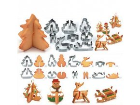 0 main 8pcsset stainless steel christmas cookie cutters 3d cake cookie mold fondant cutter diy baking tools