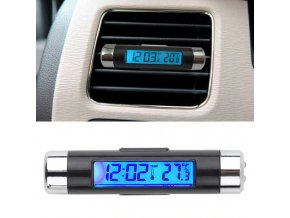 0 main portable 2 in 1 car digital lcd clock temperature display electronic clock thermometer car automotive blue backlight with clip