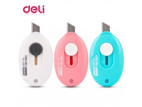 0 main deli 1pcs brand cute kawaii plastic art knife creative mini knife box cutter kids gift office school supplies korean stationery