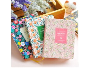 0 main new arrival cute pu leather floral flower schedule book diary weekly planner notebook school office supplies kawaii stationery kopie