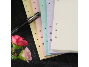 2 main notebook colorful notebook accessories a5 a6 office solid color planner inners filler papers 40 sheet set inside
