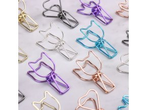0 main 6pcsset hollowed out design metal binder clip long tail clips office hand book folder paper organizer stationery fish clip