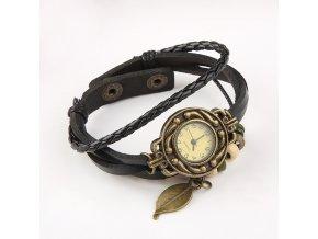 Dámské koženkové hodinky LEAF