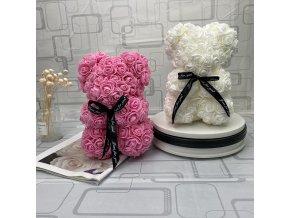 Medvídek z růží / 25 cm